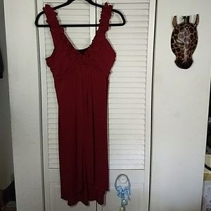 Wine collored hi- low dress